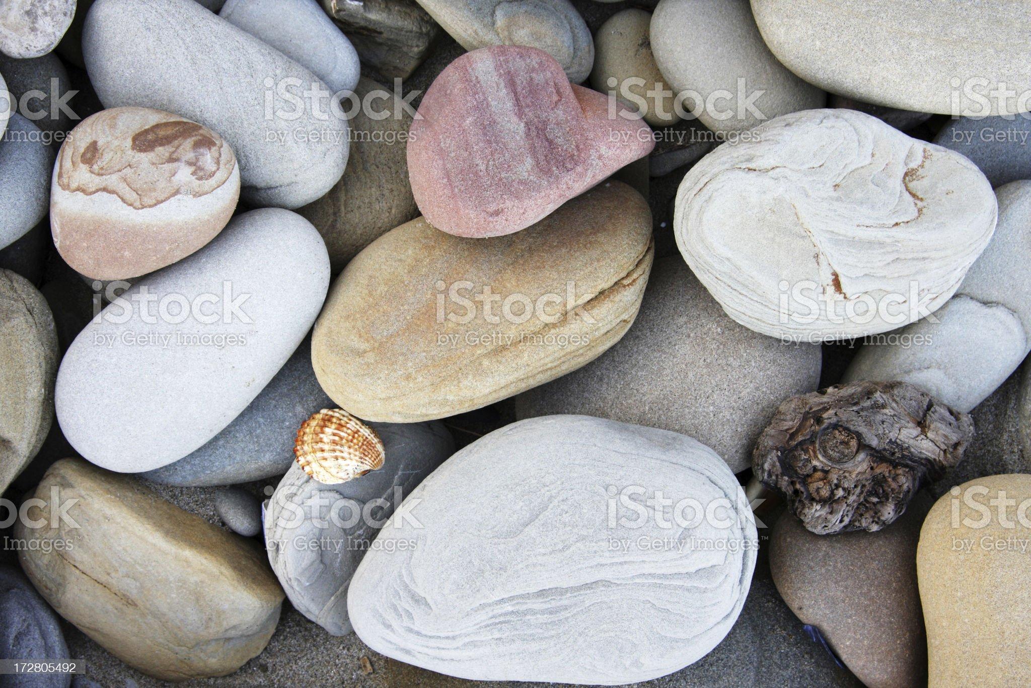 Eroded beach stones royalty-free stock photo