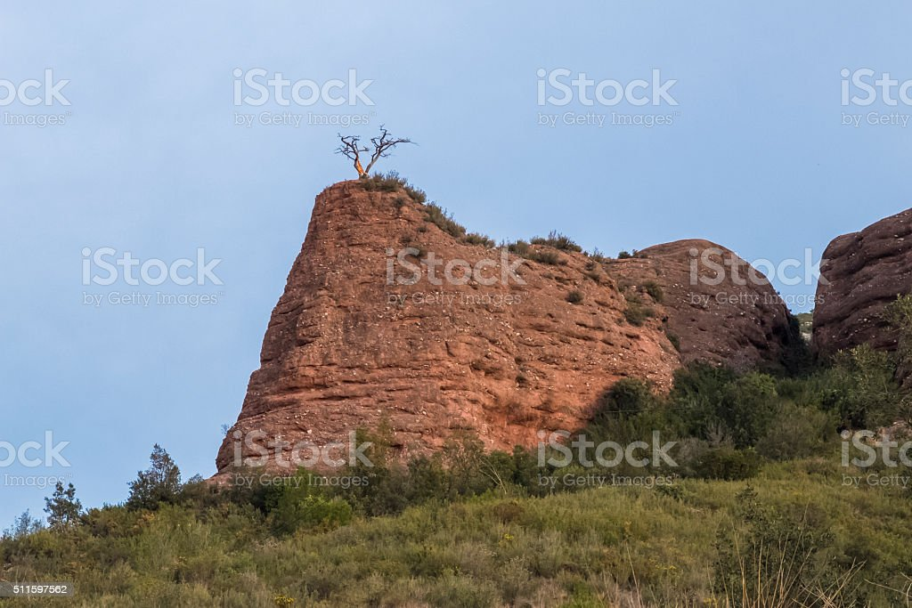 eroded hill stock photo