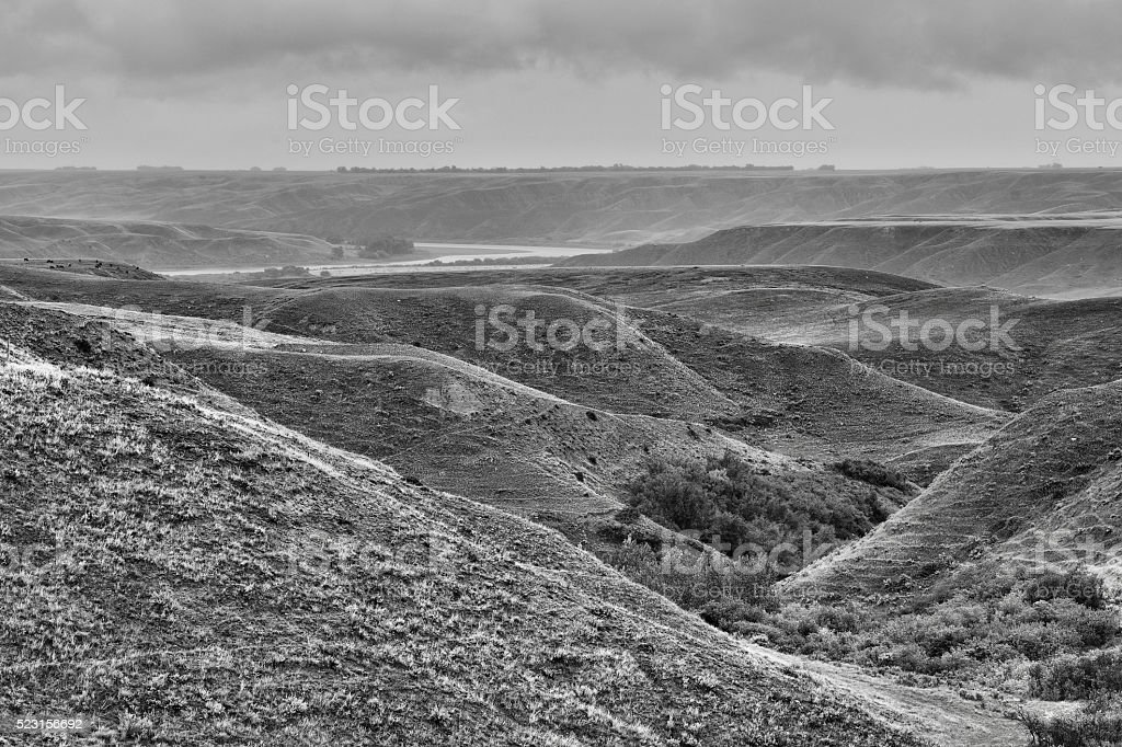 Eroded Landscape stock photo