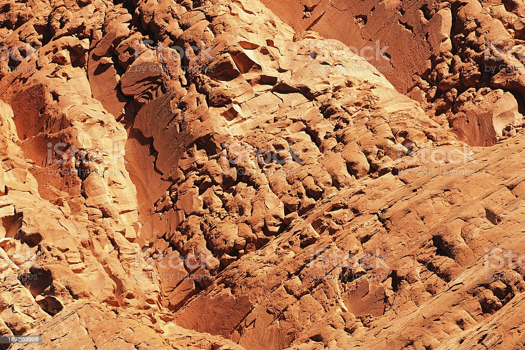 Eroded Red Rock Schnebly Hill Formation Strata stock photo