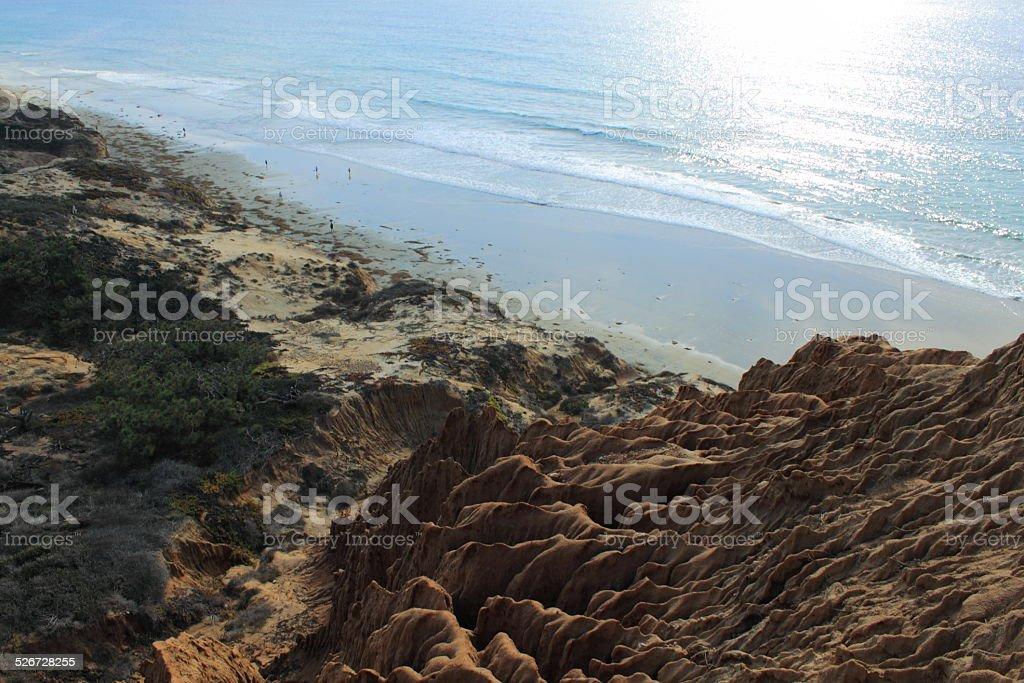 Eroded Rock near the coast stock photo