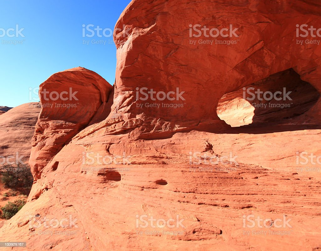 Eroded rock shapes, Mystery Valley, Utah, USA stock photo