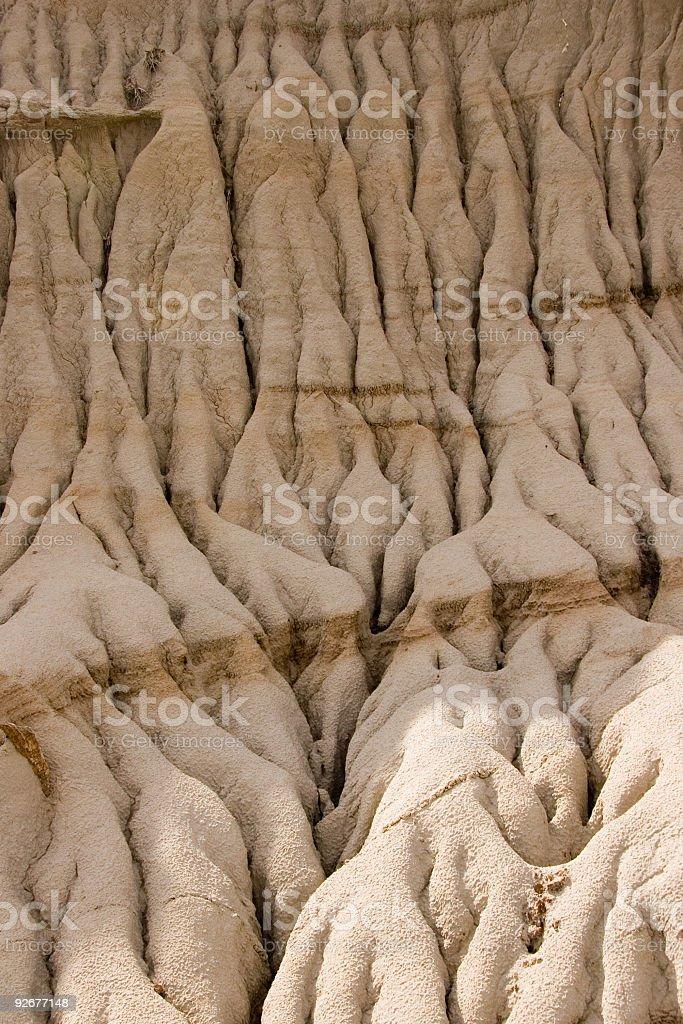 Eroded slopes stock photo