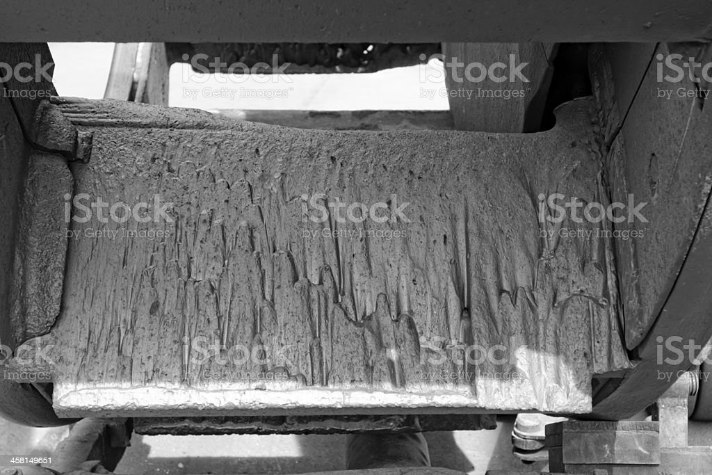 eroded surface of the mill blades royalty-free stock photo