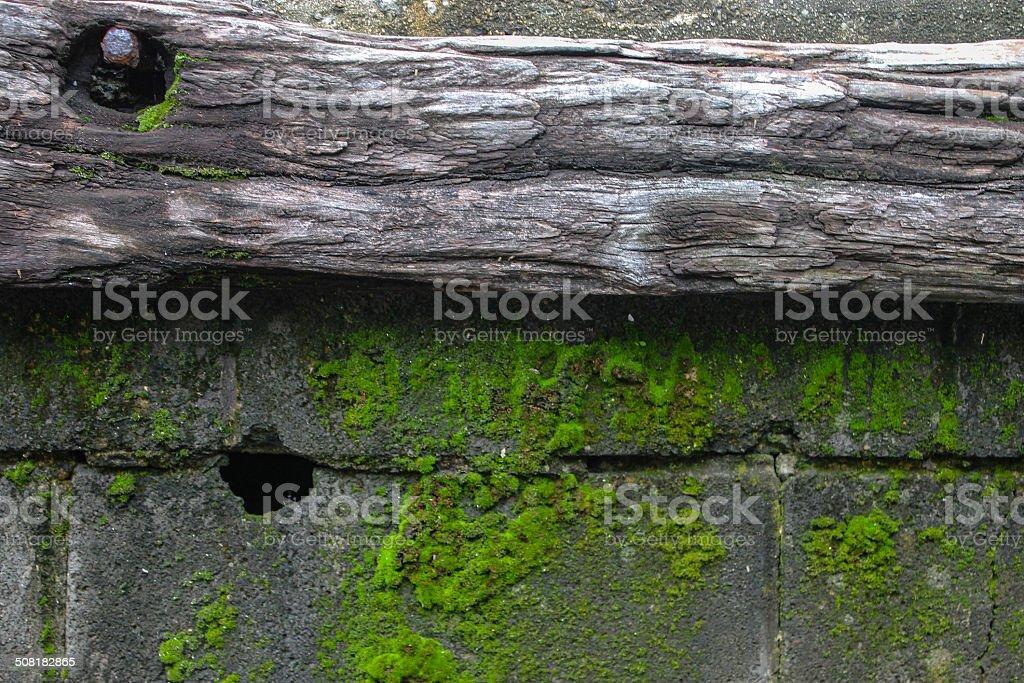 Eroding Wood stock photo