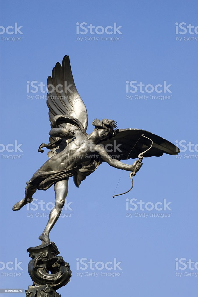 Eros, Piccadilly Circus, London stock photo