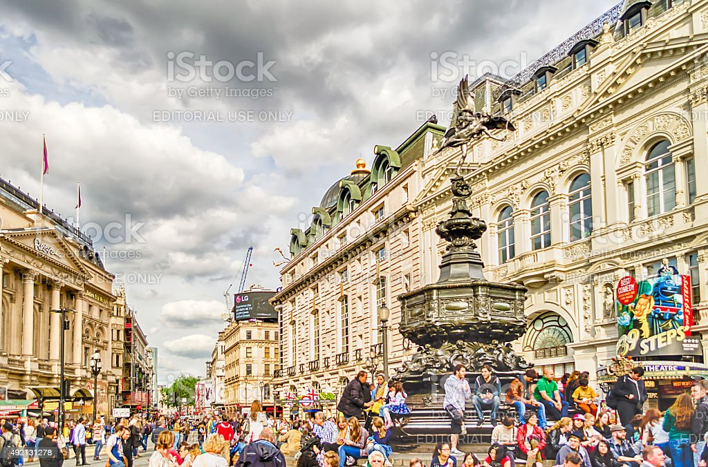 Eros Statue at Piccadilly Circus, London stock photo