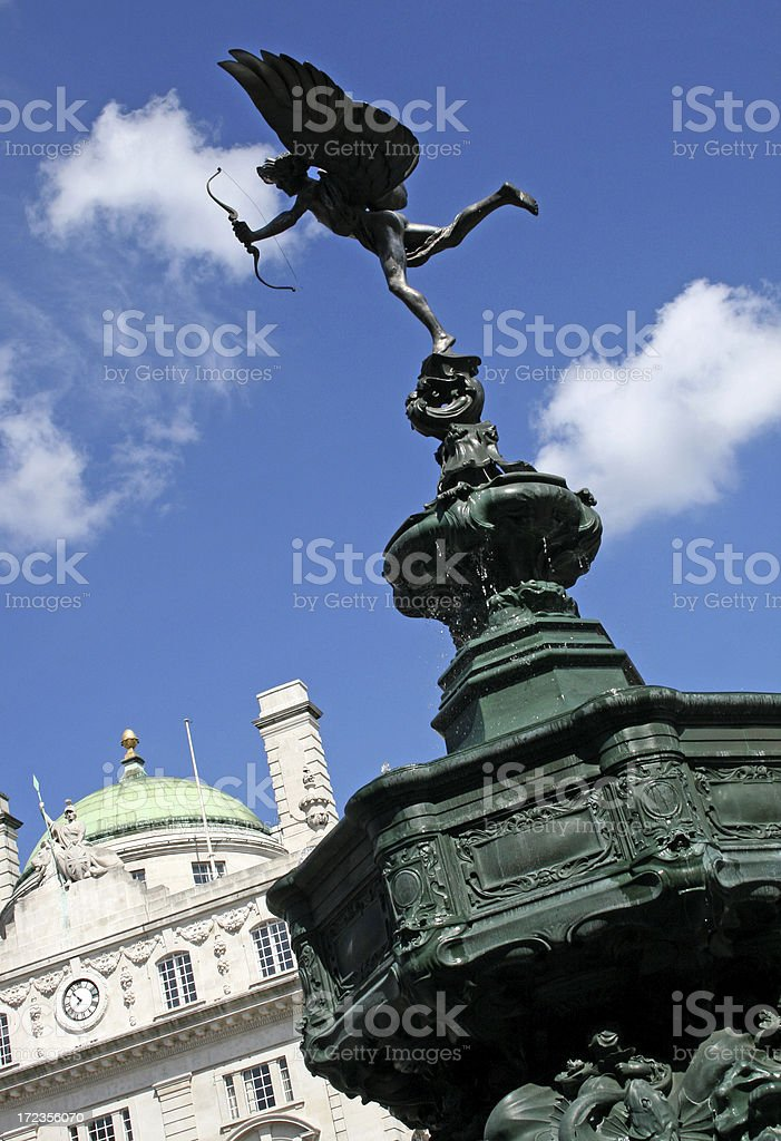 Eros statue in Piccadilly Circus London stock photo