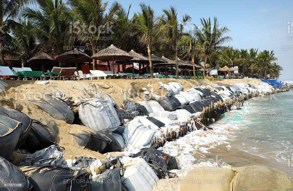 Erosion, climate change, worldwide, warming, Vietnam stock photo