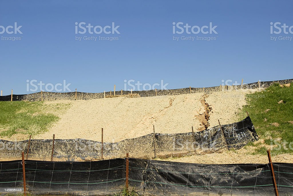 Erosion Control royalty-free stock photo