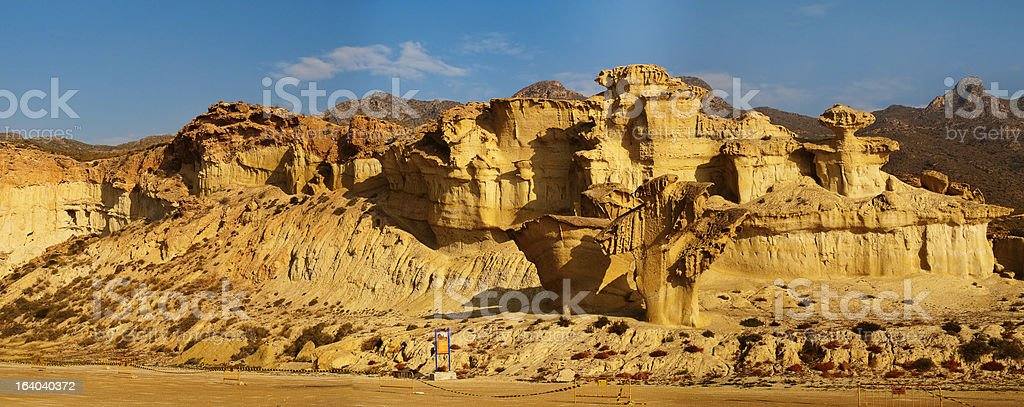 erosion in sandstone stock photo