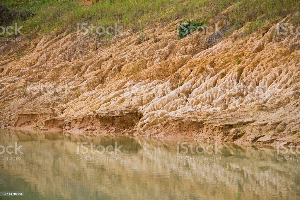 Erosion of soil royalty-free stock photo