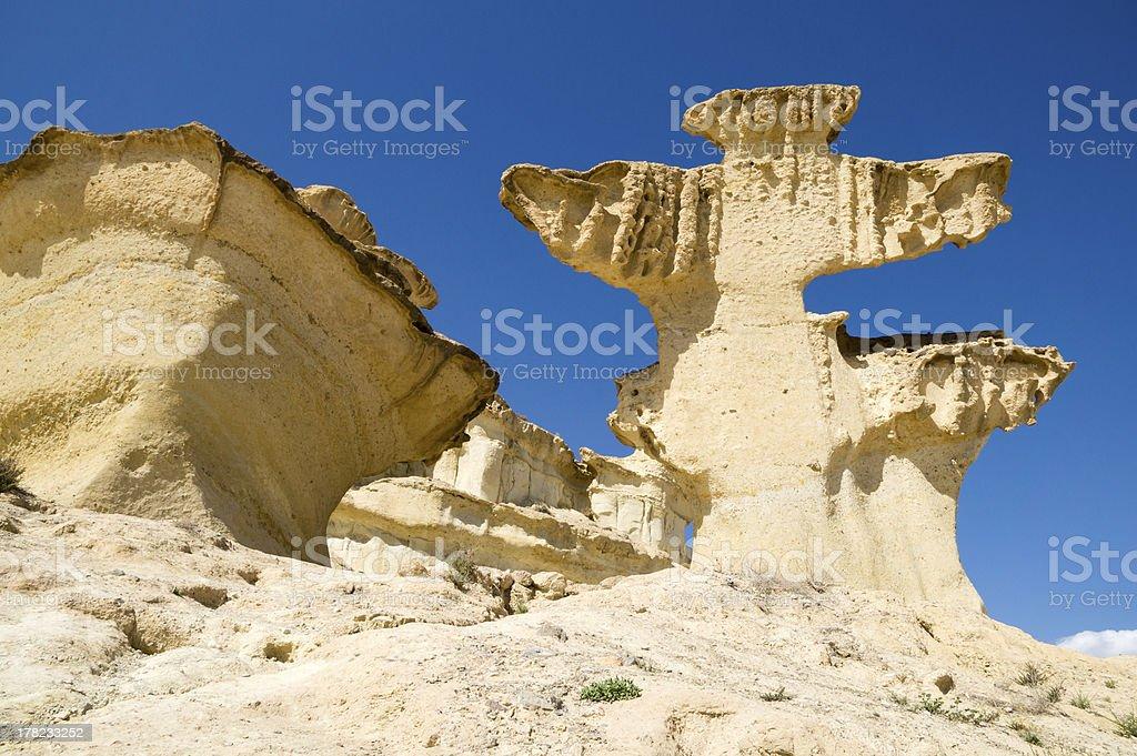 erosion on sandstone stock photo