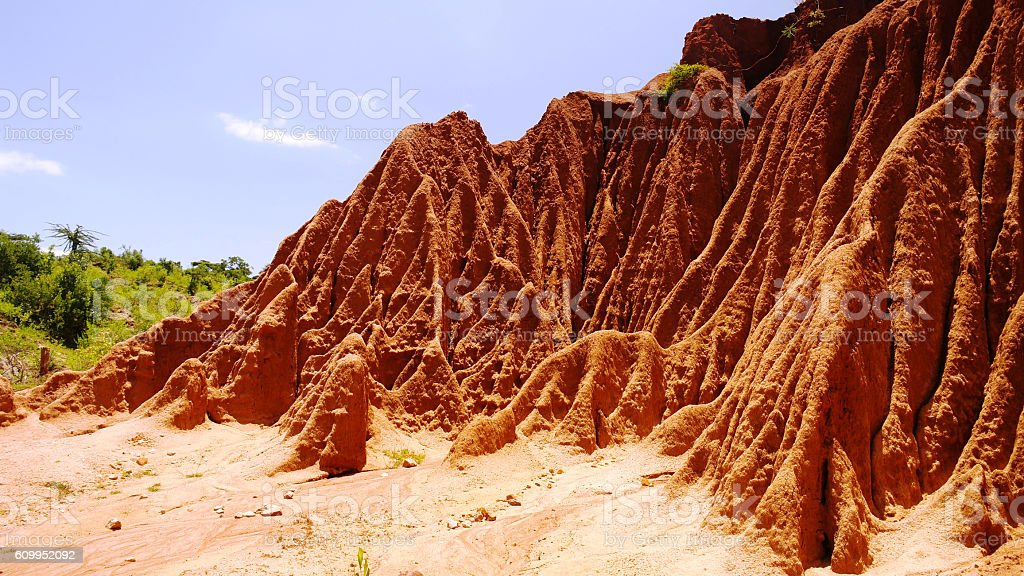 Erosion sand ravine stock photo
