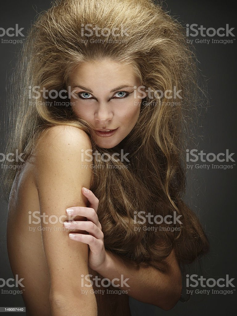 Erotic lion stock photo