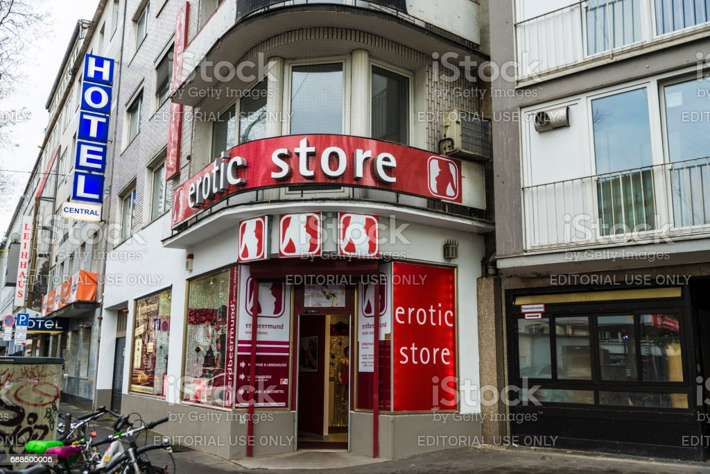Erotic store in Dusseldorf, Germany stock photo