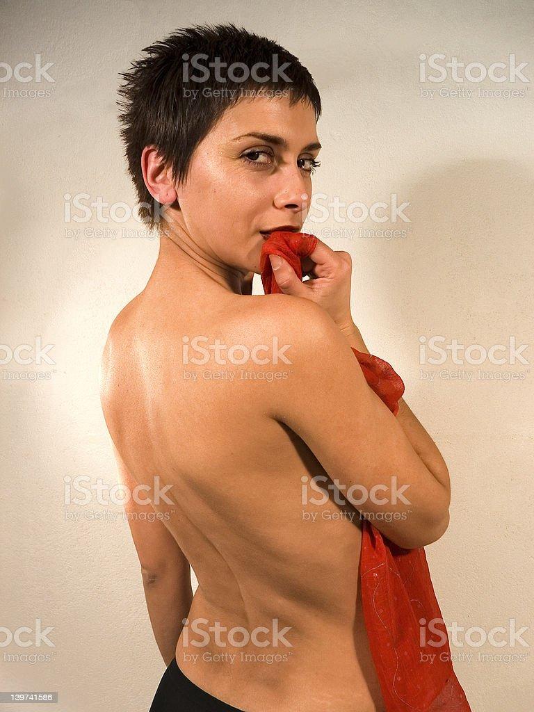 Erotic woman stock photo