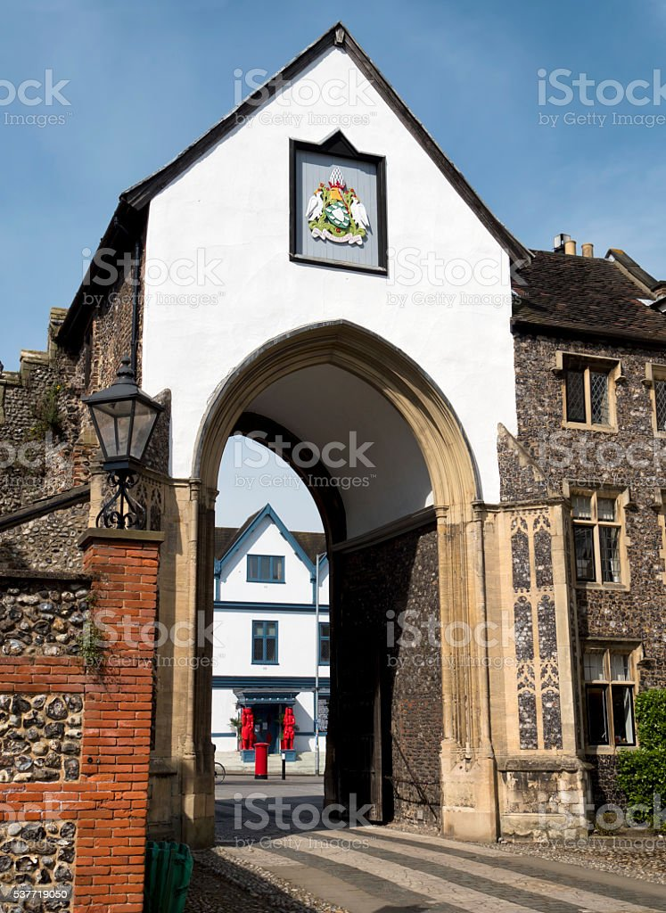 Erpingham Gate at Norwich Cathedral stock photo