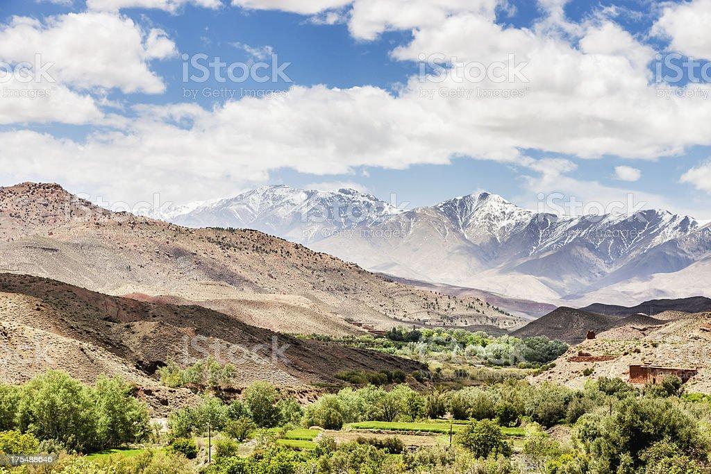 Errachidia Oasis Atlas Mountains Morocco stock photo