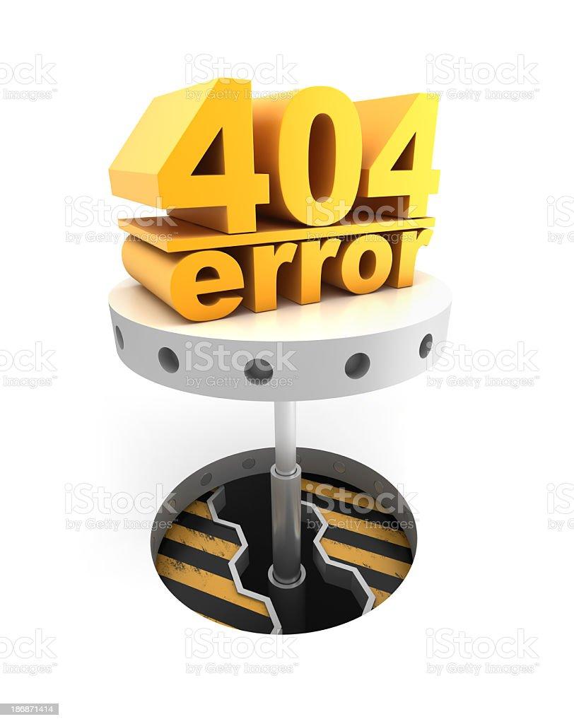 Error 404 concept stock photo