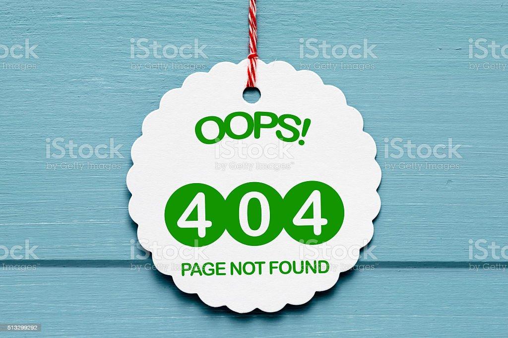 Error 404 stock photo