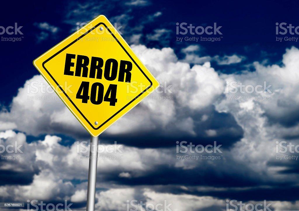 Error 404 sign stock photo
