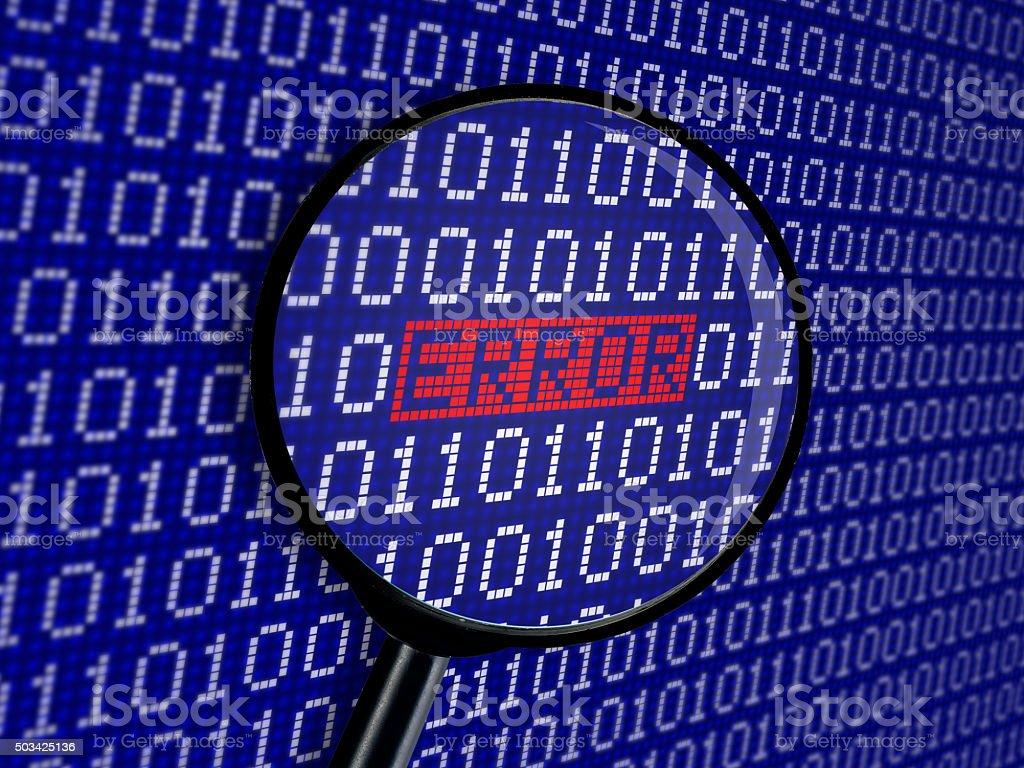 Error binary code stock photo