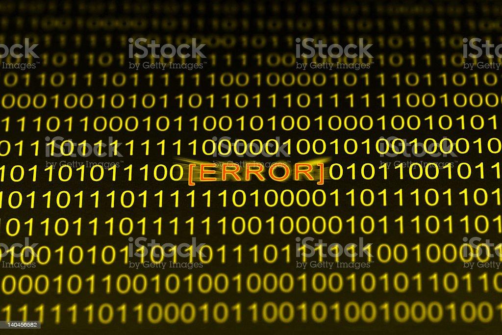 Error Code royalty-free stock photo