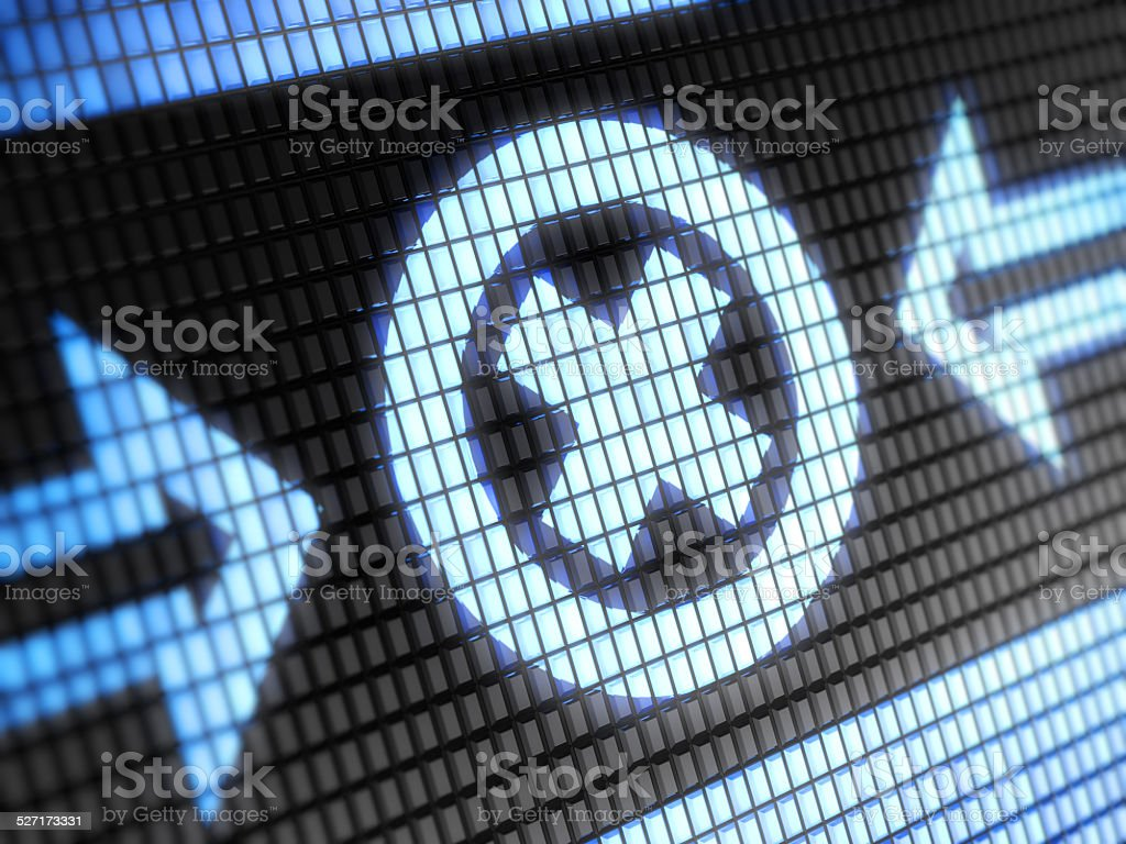 Error icon stock photo