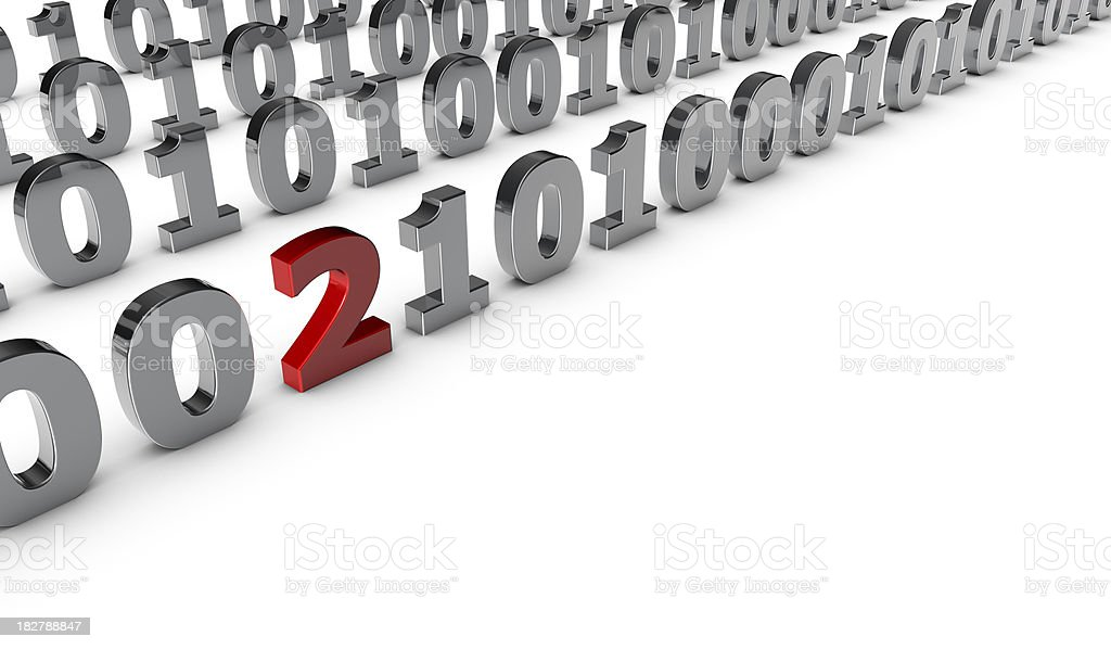 Error in a binary code stock photo
