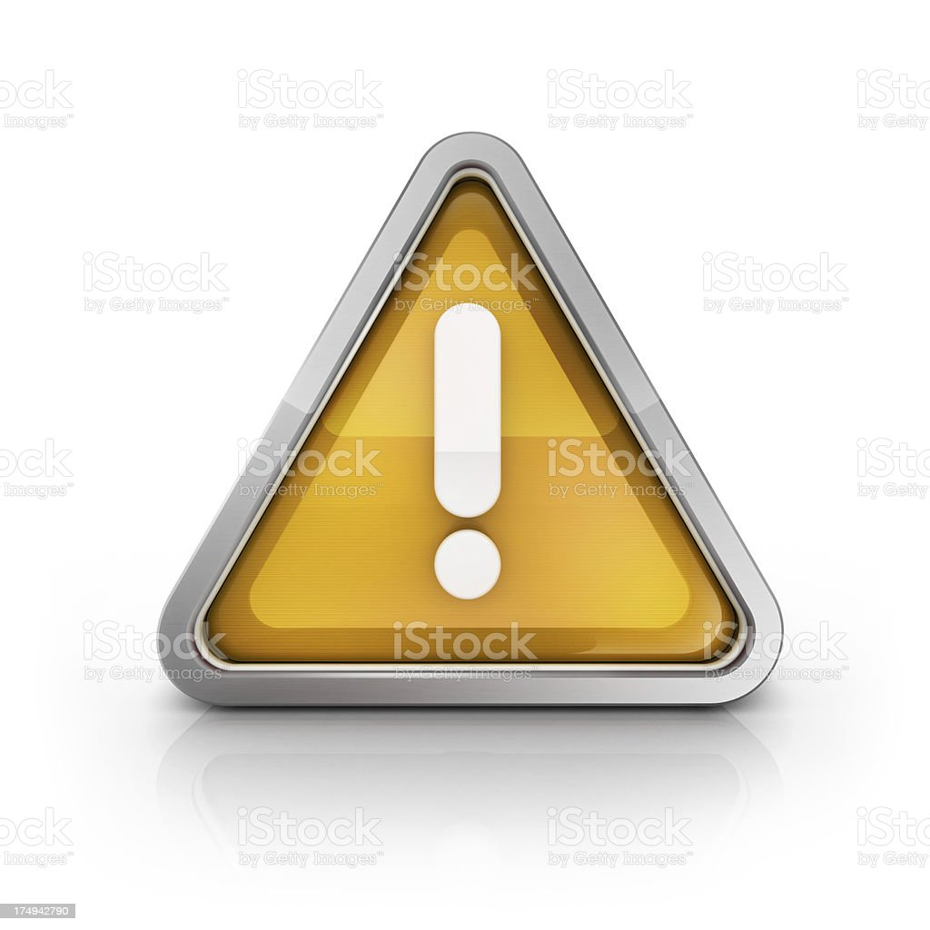 error or attention triagle icon royalty-free stock photo