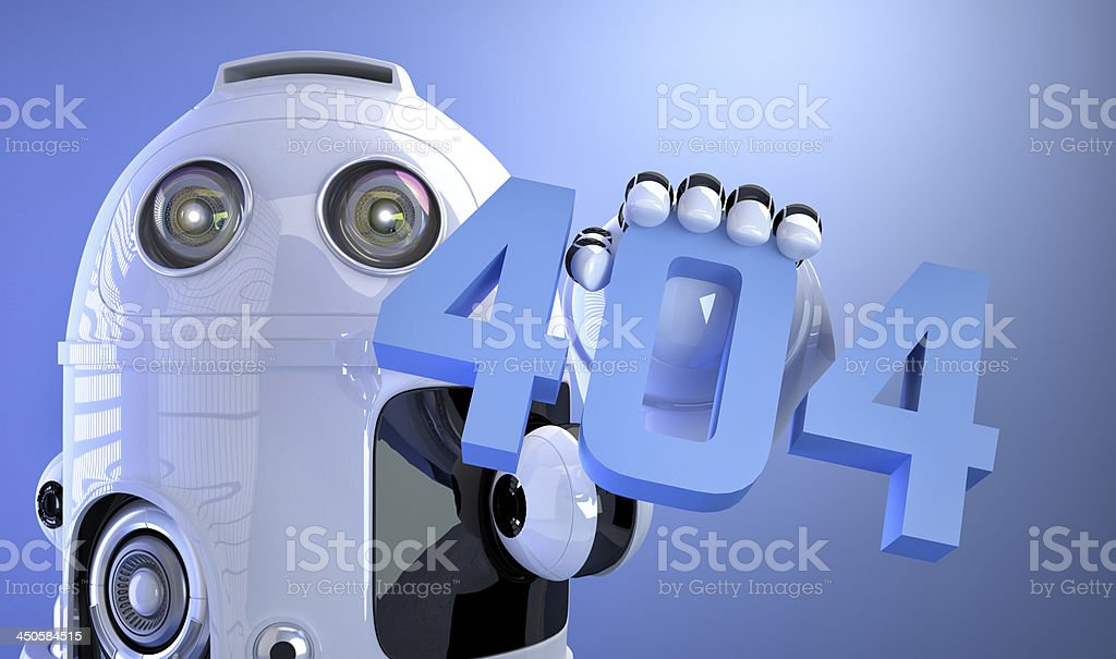 404 error, page not found! stock photo