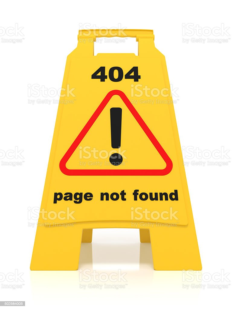 404 Error Sign stock photo