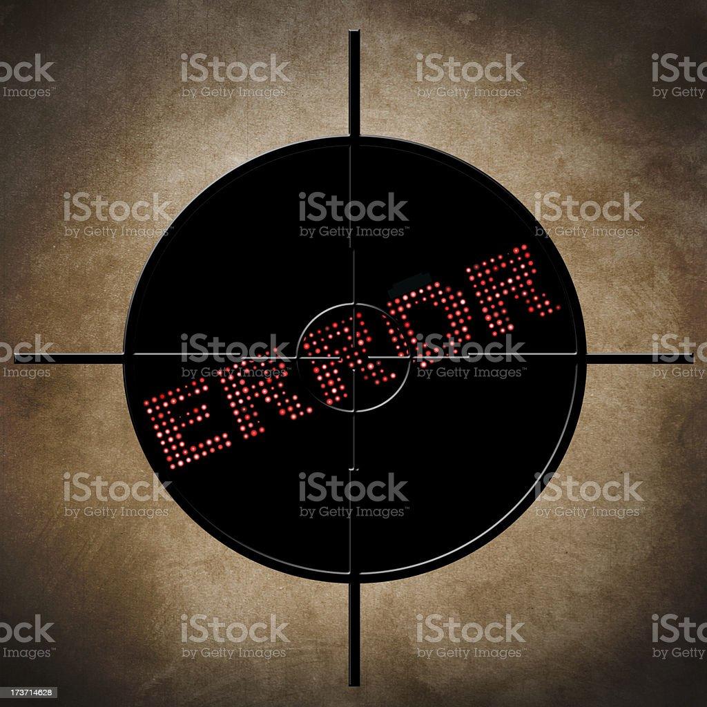Error  target concept royalty-free stock photo