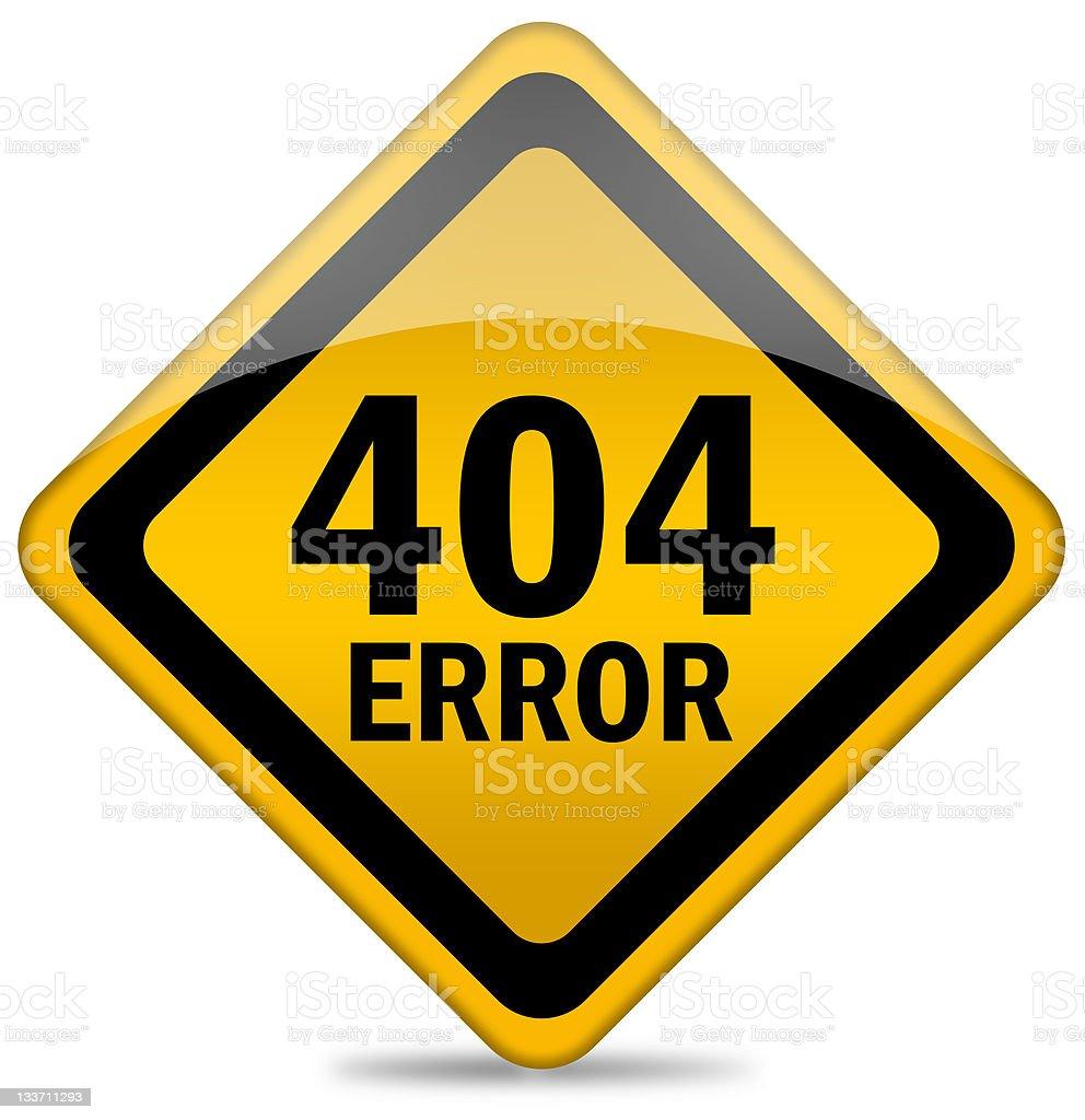 Error web icon stock photo