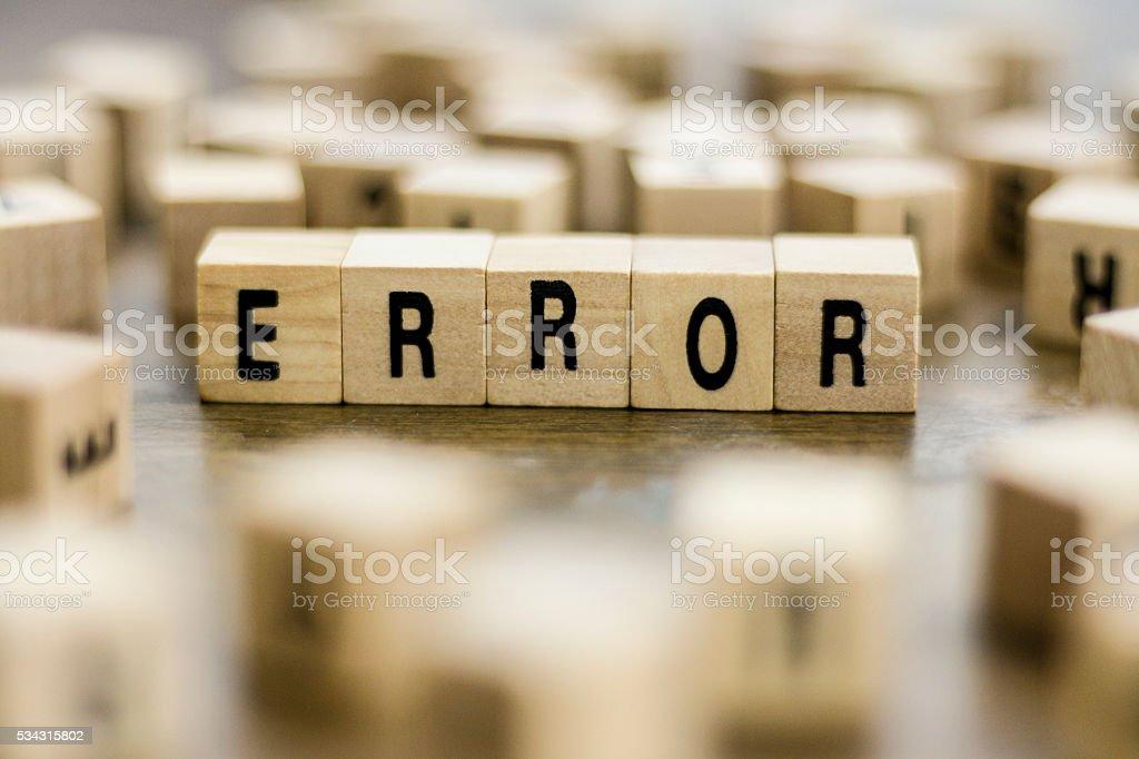 Error word stock photo