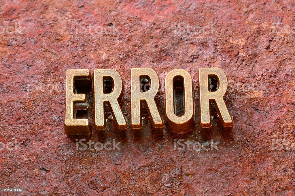 error word rust stock photo