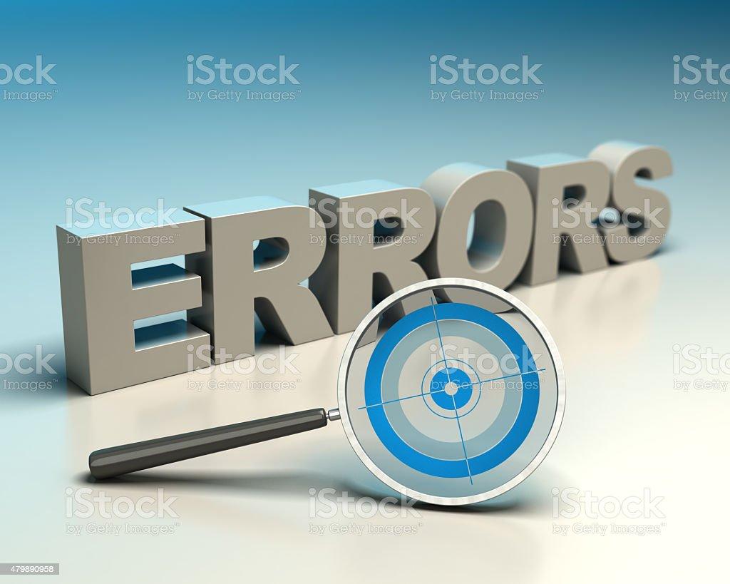 Errors detection stock photo