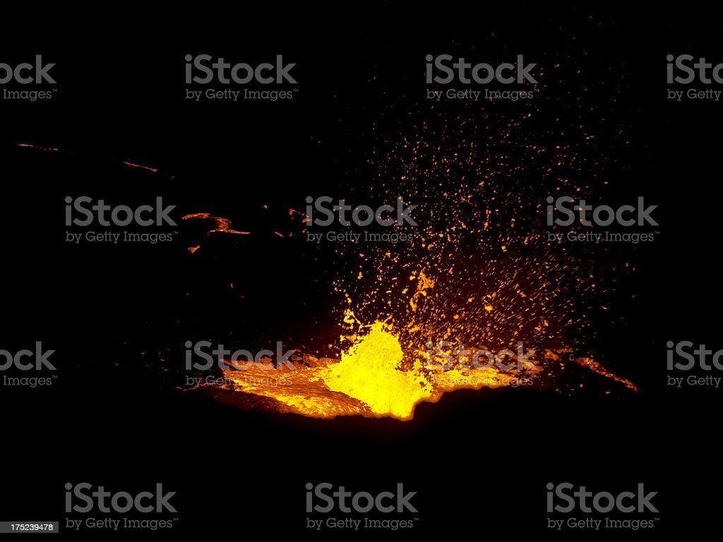 Erta Ale eruption stock photo