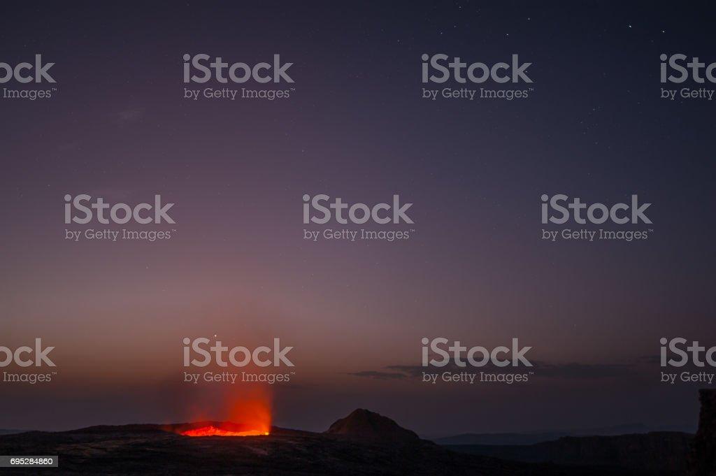 Erta Ale lava lake, Afar, Ethiopia stock photo