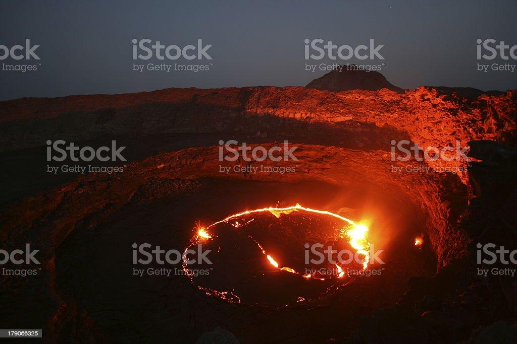 Erta Ale Volcano lava lake stock photo