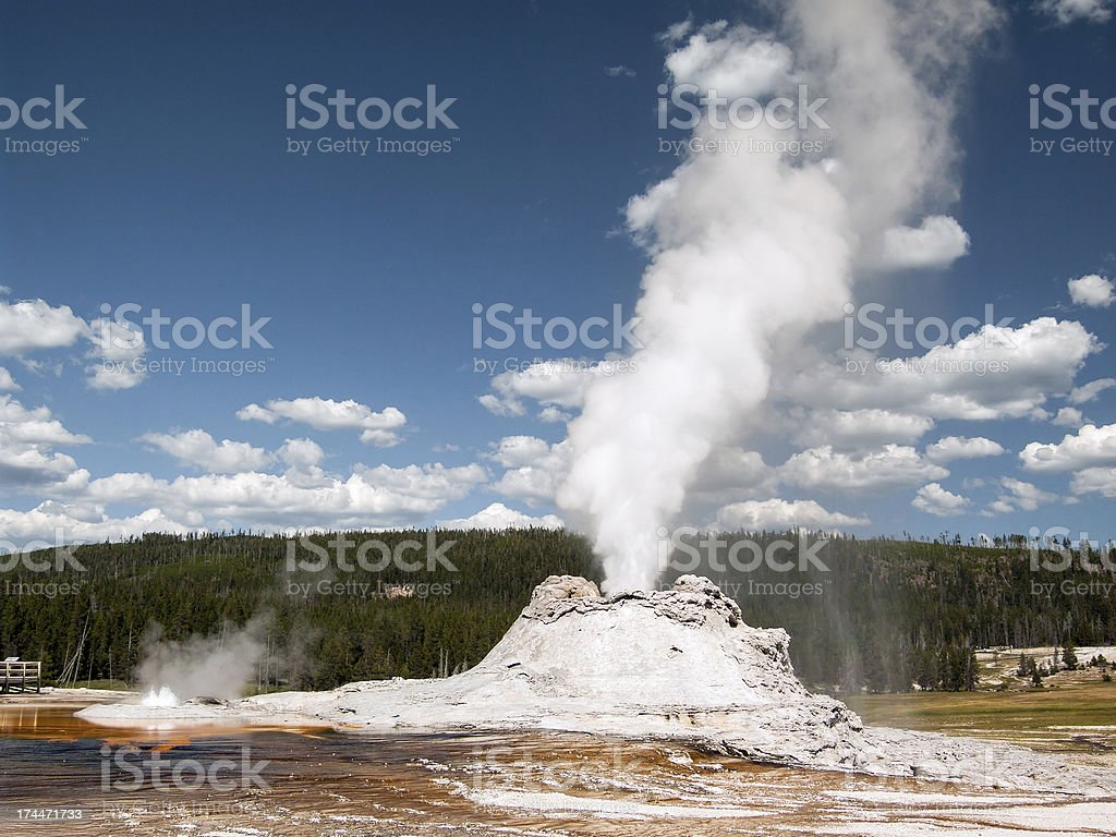 Eruzione Castle Geyser foto stock royalty-free
