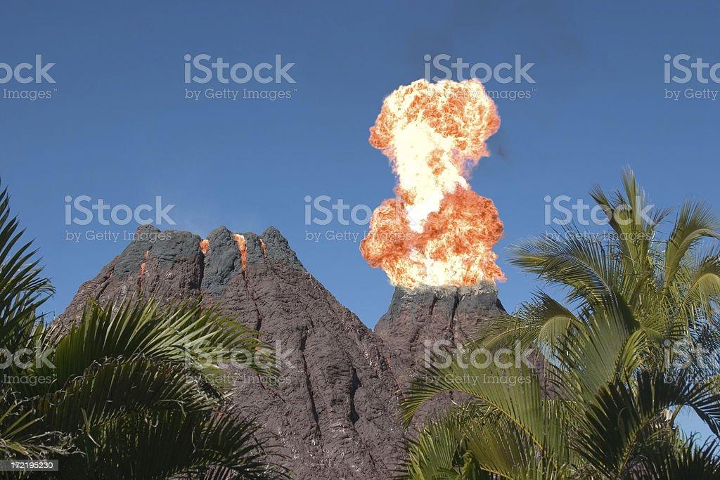 Erupting Volcano royalty-free stock photo