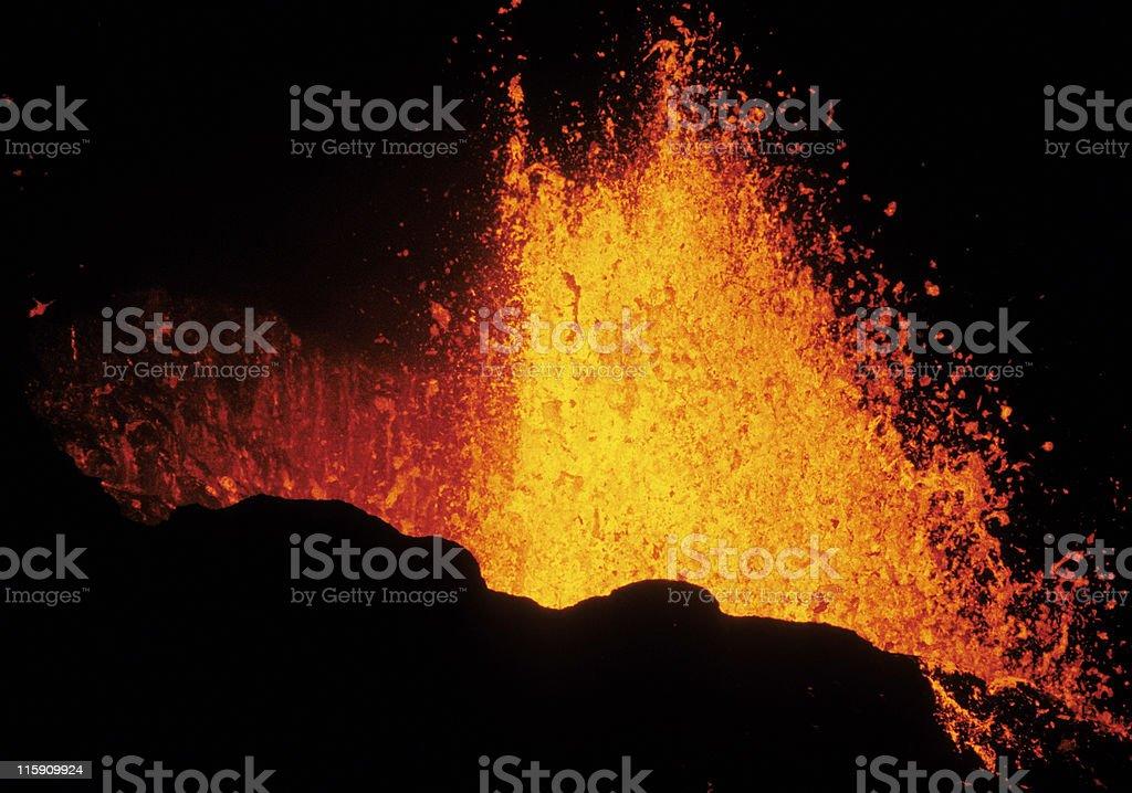 eruption 3 stock photo