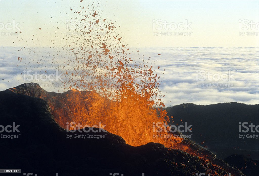 eruption 4 stock photo