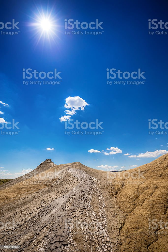Eruption of mud stock photo