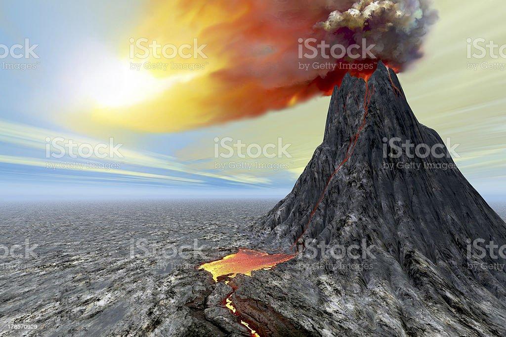 Eruption stock photo