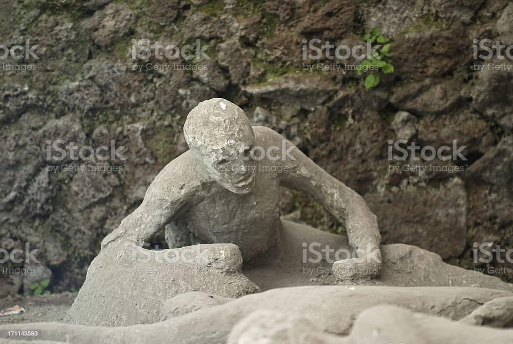 eruption victim of Vesuvius in Pompeii royalty-free stock photo