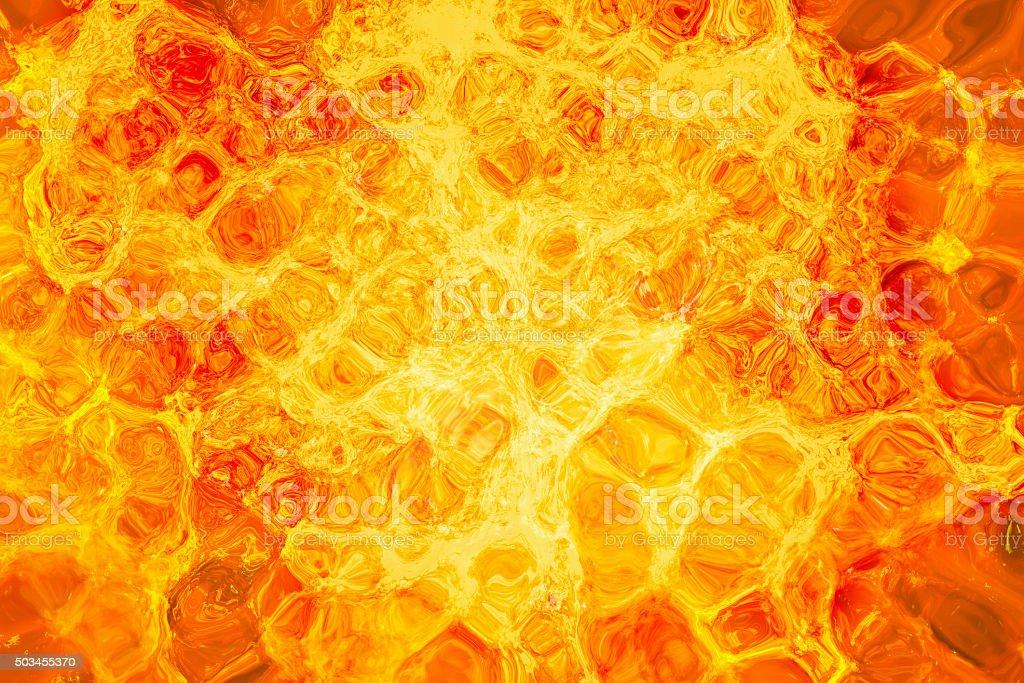 eruption volcano. hot lava texture stock photo