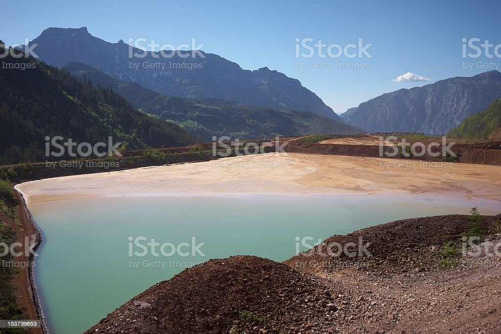 Erzberg iron mine landscape royalty-free stock photo